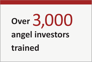 over 3,000 angel investors trained